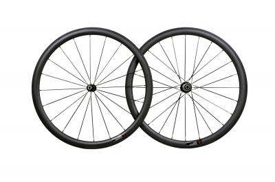38MM CLINCHER FULL CARBON ROAD WHEELSET